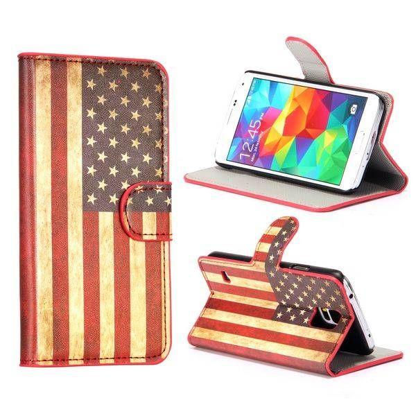 Amerikaanse vlag bookcase hoes voor Samsung Galaxy S5