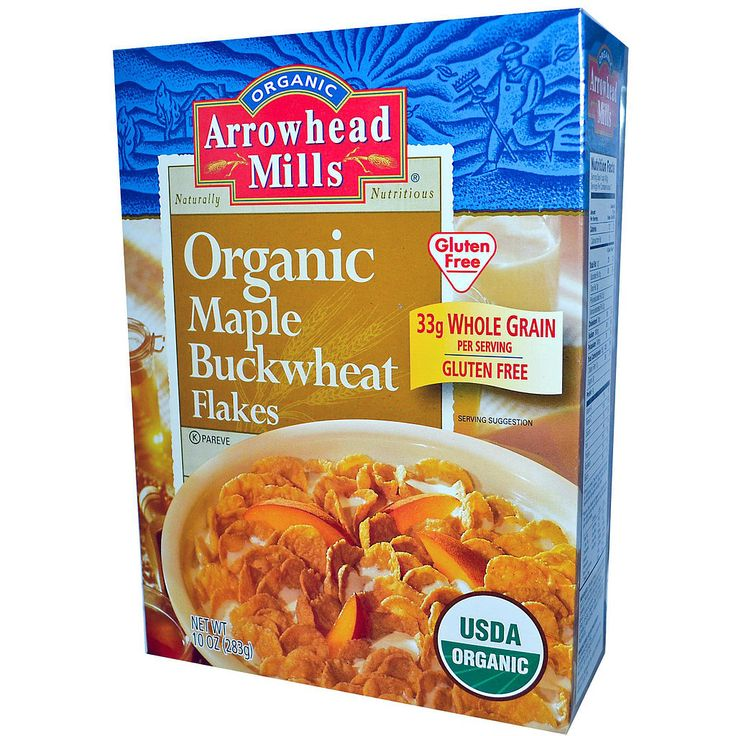 For a sweet treat that is reminiscent of corn flakes, you may want to try Organic Maple Buckwheat Flakes ($5) from Arrowhead Mills. This crunchy cereal is gluten- and cholesterol-free, comes lightly sweetened with maple syrup, and you can enjoy it with plain milk, or with yogurt and fruit.