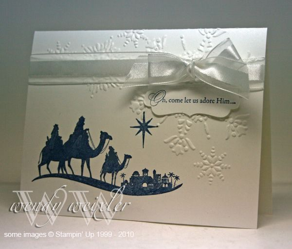 Come, Let Us Adore Him by Wendybell - Cards and Paper Crafts at Splitcoaststampers
