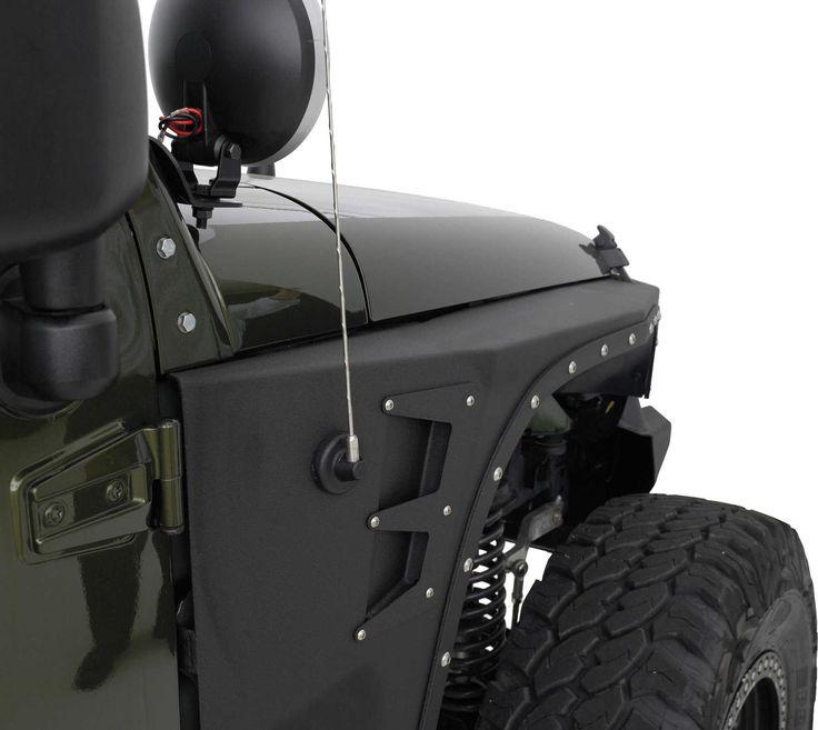 Smittybilt 76880 XRC Armor Front Fenders for 07-17 Jeep® Wrangler & Wrangler Unlimited JK | Quadratec