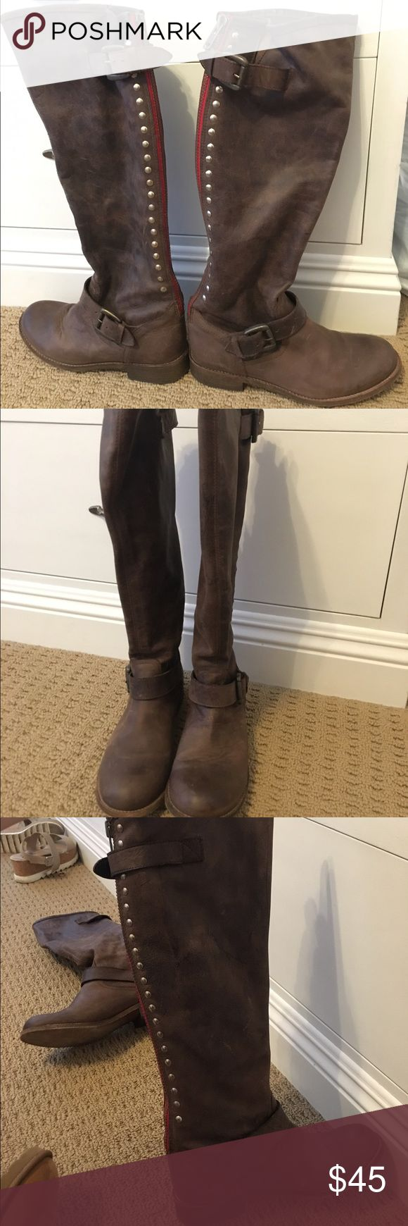 Steve Madden Lynx Brown boots Hardly worn. Excellent condition. Stored inside original box for protection. Steve Madden Shoes Heeled Boots
