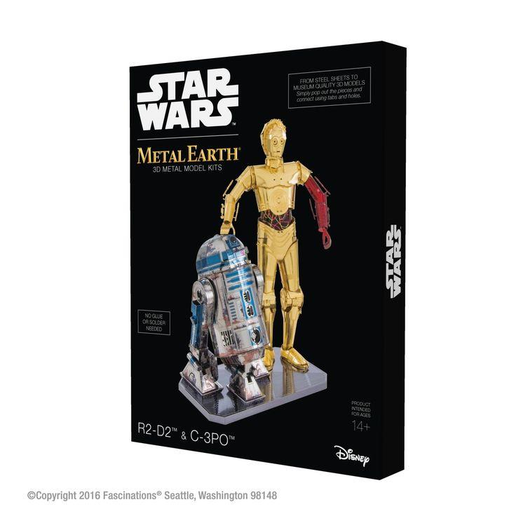 NEW Collectible Star Wars R2-D2 & C-3PO Metal Earth 3D Metal Model Kits Gift Box Set