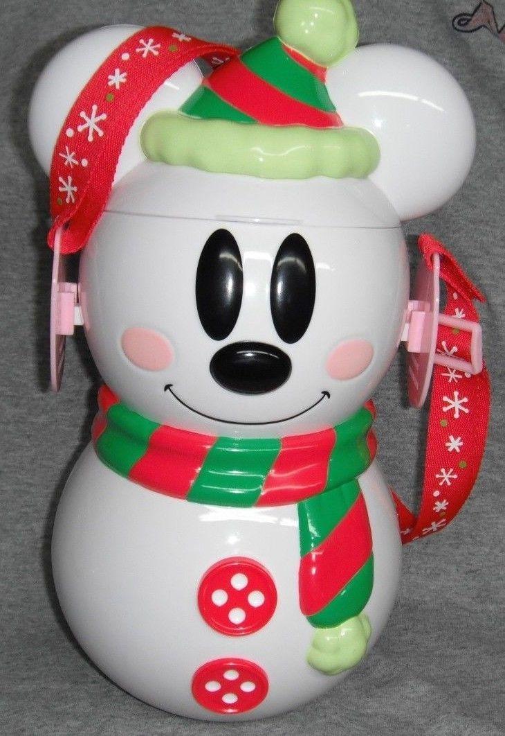RARE Tokyo Disneyland Mickey Mouse Snowman Popcorn Bucket Prototype Sample | eBay