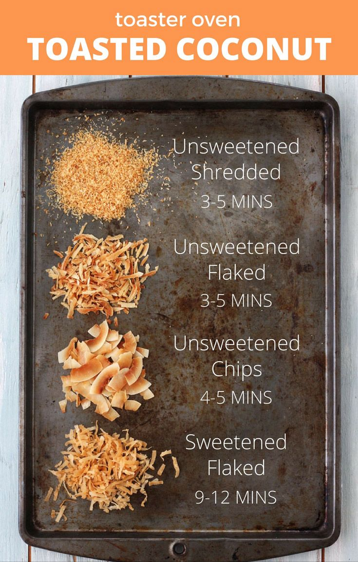 How to Toast Coconut in your Toaster Oven is the ultimate guide for toasting any kind of dried coconut using a toaster oven.  Flaked, shredded or chips, we've got you covered!  via @toasterovenlove