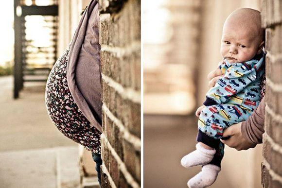 Fotos criativas do antes e depois da gravidez