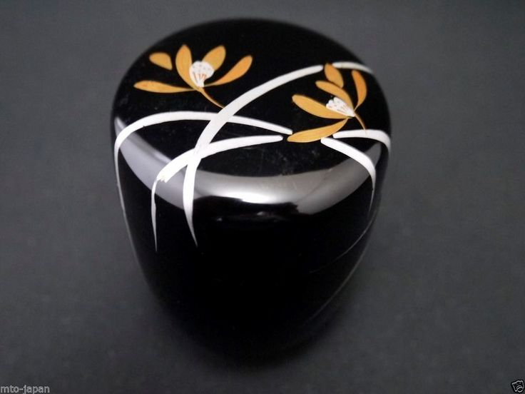 Japanese Traditional Lacquer Tea Caddy Clematis Makie Natsume 808 | eBay