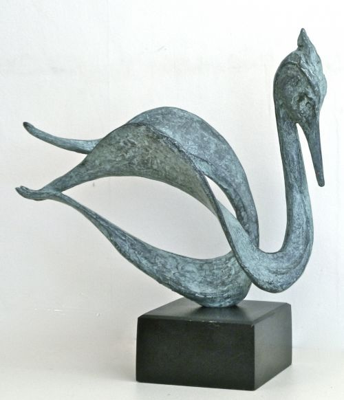 Bronze Stylised Birds /statues/statuary/ornaments figurines/statuettes #sculpture by #sculptor Gill Brown titled: 'VARIATIONS' #art