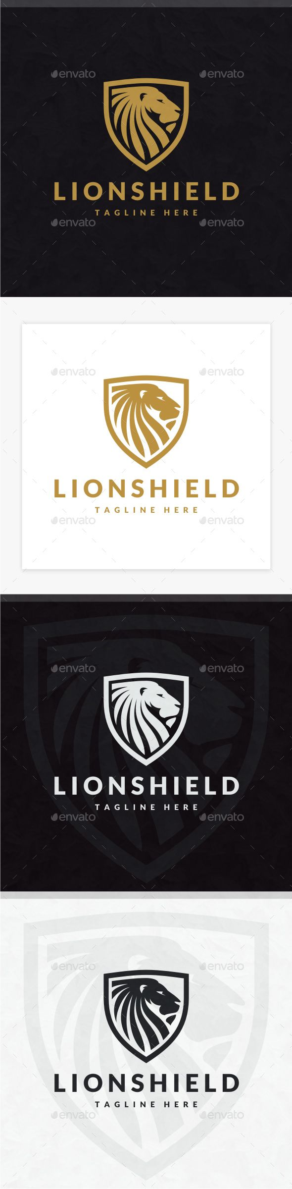 Lion Shield Logo — Photoshop PSD #graphic #creative • Download ➝ https://graphicriver.net/item/lion-shield-logo/19722927?ref=pxcr