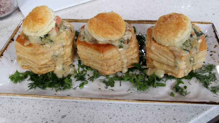 Looking for the perfect holiday meal? Why not try something different other than chicken or beef  - surprise the family with this savory seafood filled vol-au-vent this year!