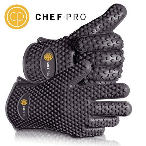 Chef-Pro Silicone Gloves Heat Resistant Grilling BBQ Gloves for Cooking, Baking, Smoking & Potholder, Insulated, waterproof protection for your hands, five fingered silicone oven glove kitchen mitts Chef Pro http://www.amazon.com/dp/B0145M7HQ8/ref=cm_sw_r_pi_dp_ZnsRwb1FA8YXX