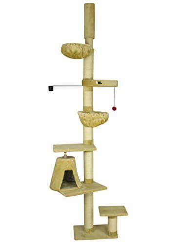 ARMARKAT Kratzbaum in Farbe Beige deckenhoch bis 278 cm mit Wandhalter Deckenspanner und dicken Sisa - http://www.kratzbaum-bestellen.de/produkt/armarkat-kratzbaum-in-farbe-beige-deckenhoch-bis-278-cm-mit-wandhalter-deckenspanner-und-dicken-sisa/