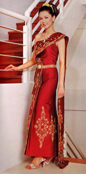 Best 25 thai wedding dress ideas only on pinterest thai for Laos wedding dress for sale