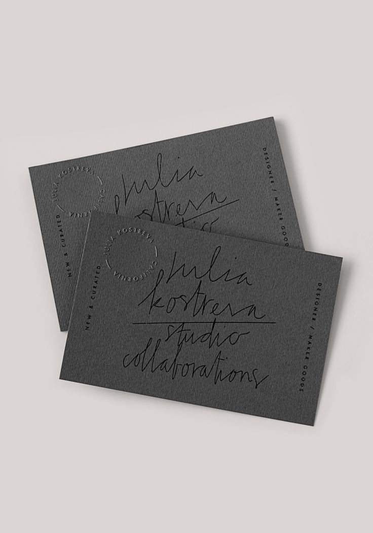 Julia Kostreva #businesscards #branding