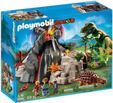 Playmobil 5230 T-Rex und Saichania beim Vulkan