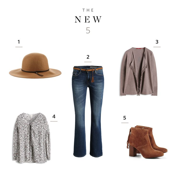 One outfit, 5 styles – unagitated, feminine with a dash of boho spirit!