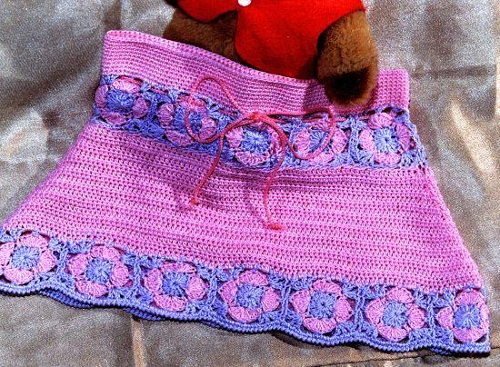 Falda para nena en tejido crochet