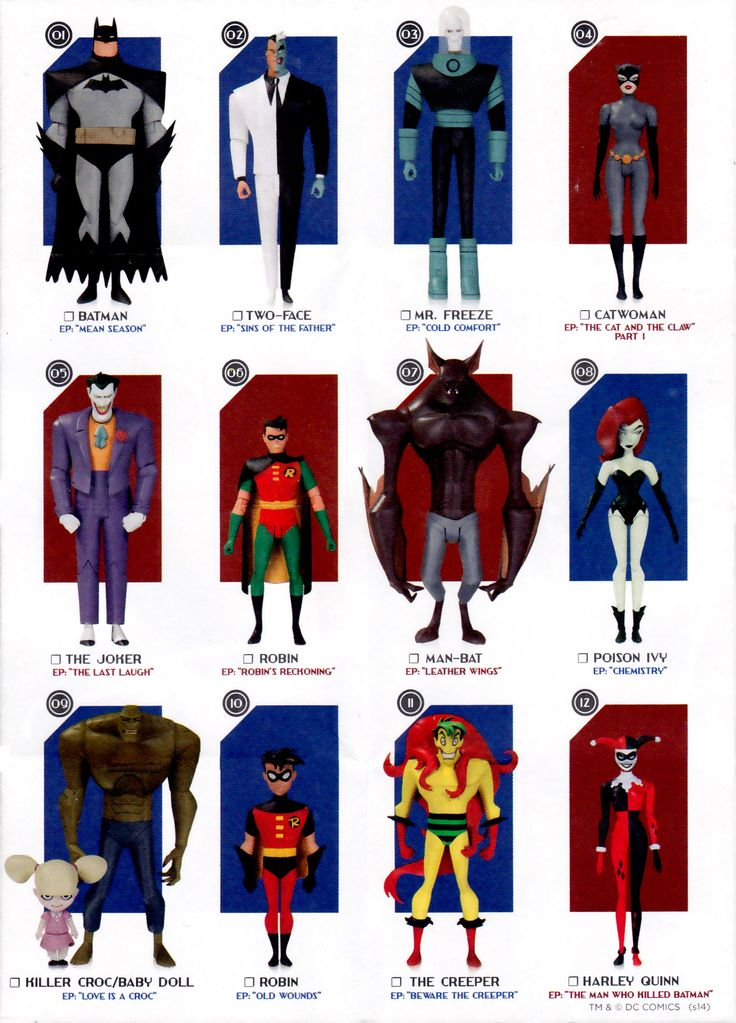 DC Collectables: Batman The Animated Series Action Figures Toy List