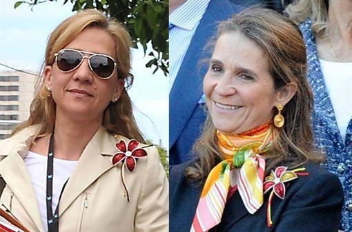 La Infantas Elena y Cristina, broches hechos con cápsulas de café  http://www.europapress.es/chance/realeza/noticia-infantas-elena-cristina-broches-hechos-capsulas-cafe-20130621124502.html