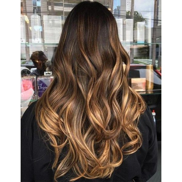 60 Chocolate Brown Hair Color Ideas for Brunettes ❤ liked on Polyvore featuring beauty products, haircare and hair styling tools