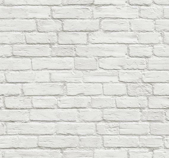 Peel And Stick Self Adhesive Wallpaper Brick Peel And Etsy L Wallpaper Tijolo Branco Cozinhas Modernas