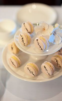 Rose with French Vanilla Macarons