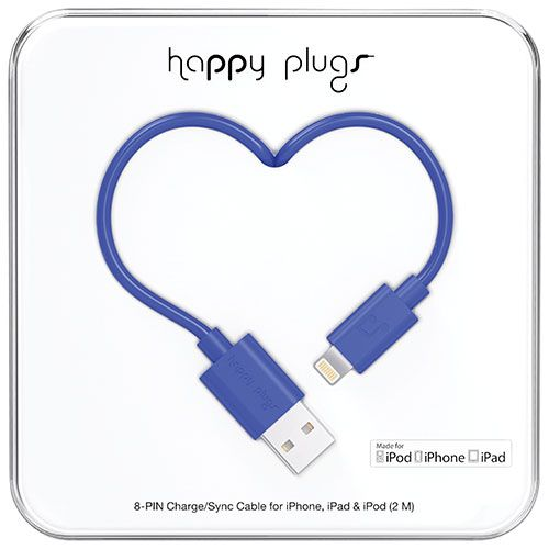 Happy Plugs 2m (6.5 ft.) Lightning/USB Cable - Cobalt
