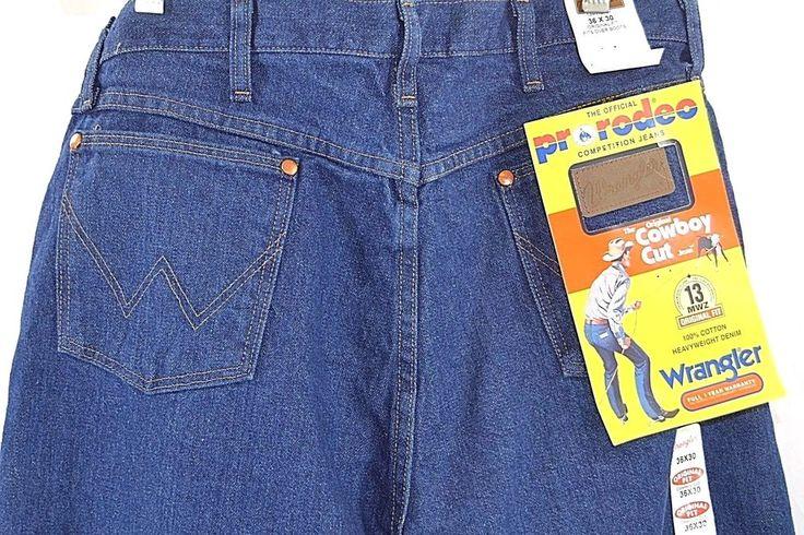 Wranglers NWT 36 x 30 Cowboy Cut Cotton Heavy Weight Denim #Wrangler #CowboyCut
