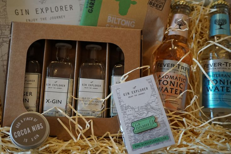 Gin Explorer Box is a monthly subscription box, which aims to help you explore the gin world. For your subscription you get: 4 double gins Gourmet tonics and mixers Tasting notes and histories Gifts and treats for gin lovers 10% discount at the Gin Festival shop Surprises and more...
