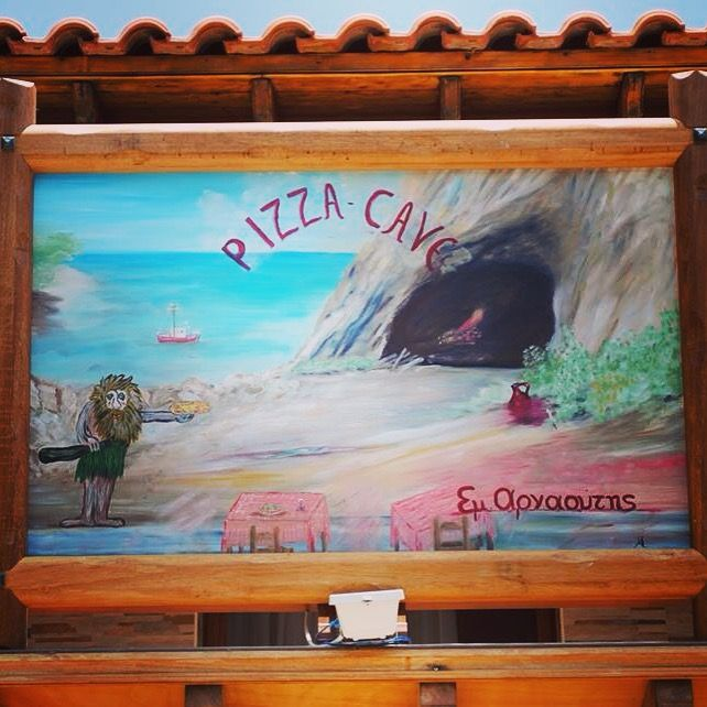 Pizza Cave. Our restaurant in Ormos Marathokampos... samos island...