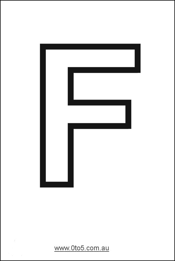 Letter - F printable template