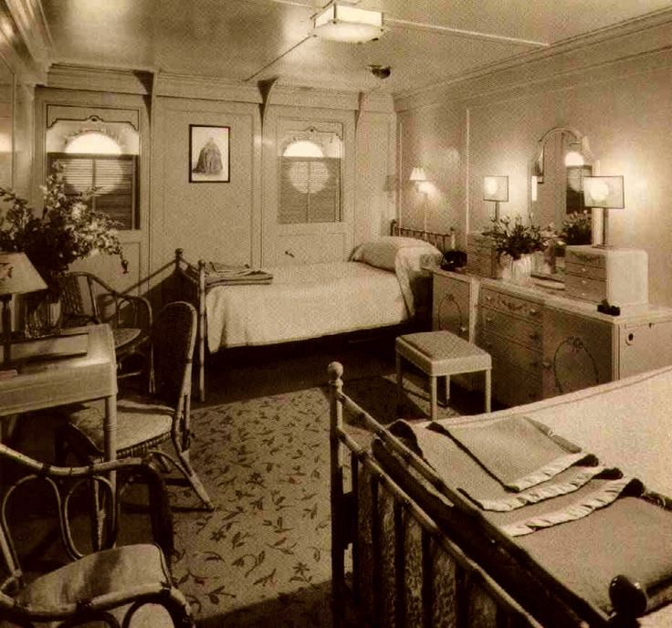 First Home Decorating: First Class Stateroom On The Lurline In The 30s
