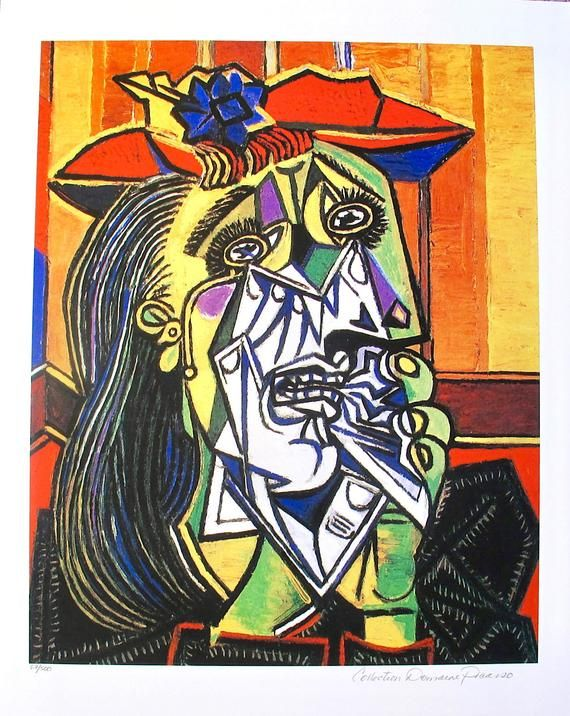 Pablo Picasso Weeping Woman Official Picasso Etsy In 2020 Pablo Picasso Art Weeping Woman Pablo Picasso Paintings