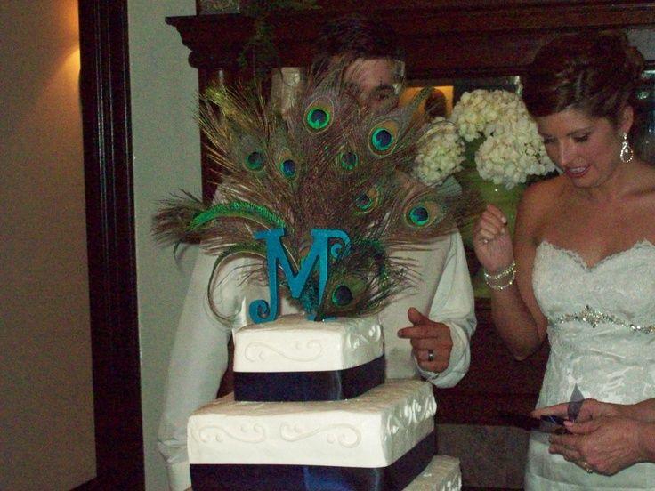 peacock cake topper | Peacock Cake Topper | Peacock Wedding by Courtney Pendle Interior Des ...