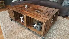 124 best images about caisse table basse - Table basse avec caisse en bois ...