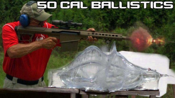 BARRETT .50 CAL vs. BALLISTICS GEL! 50 BMG ballistics testing in SUPER S...