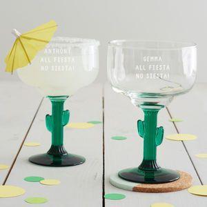 Personalised 'All Fiesta' Cactus Margarita Glass | Pinterest | Margarita glasses, Cacti and Fiestas