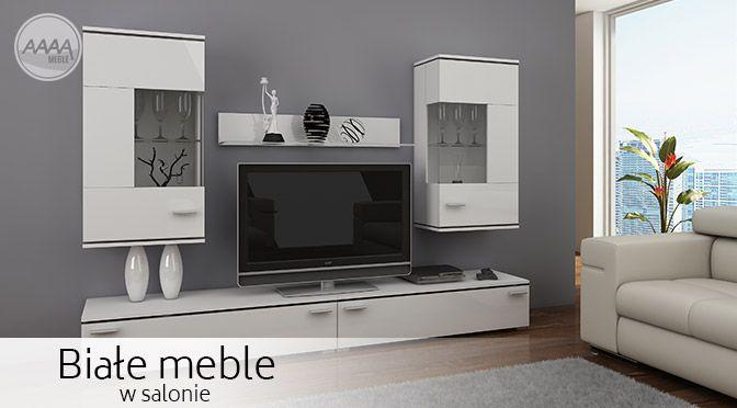 Nowoczesne białe meble. #nowoczesnemeble #mebledosalonu #meble #minimalistycznemeble #mebleniemieckie #dom #aranzacjedom #aranzacje