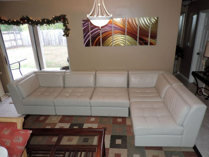 Macy S White Leather 5 Pc Modular Sectional Sofa Set We
