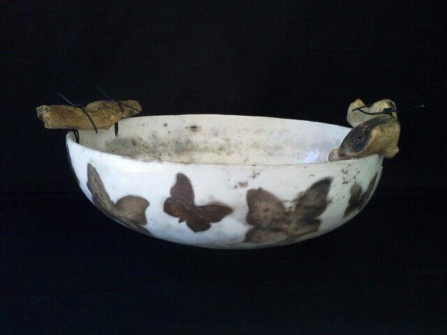DIANE KOTZAMANIS..... Cycladic islands inspired, smoke fired bowl.......Diane Kotzamanis..... https://m.facebook.com/pages/DK-Ceramics/476698149067003