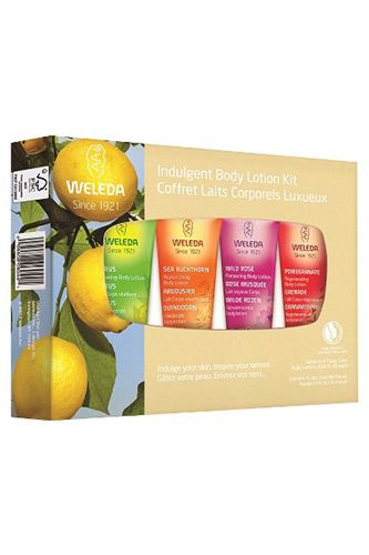 Feeling non-committal? Weleda's four-piece kit gives you pocket sized, natural hydration in scents like citrus and pomegranate. Stash one in your desk, car, purse, and by your bedside for an anytime pick-me-up. Weleda Indulgent Body Lotion Kit, $13.49, available at Target.