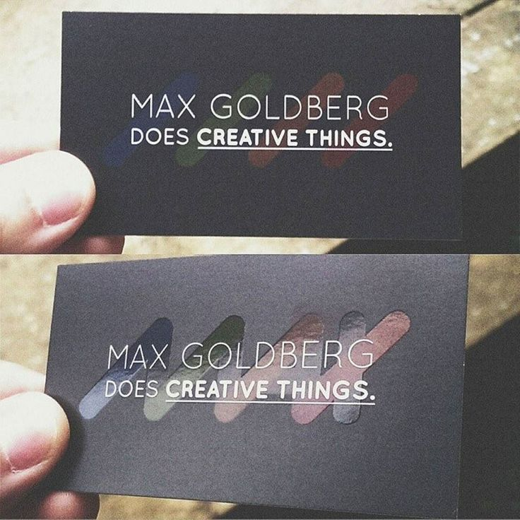 creative business card with spot uv