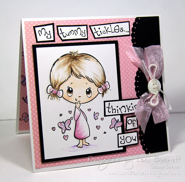 Designed by Lori Barnett. Stamps from Crafter's Companion S.W.A.L.K. Collection - Thinking Of You set