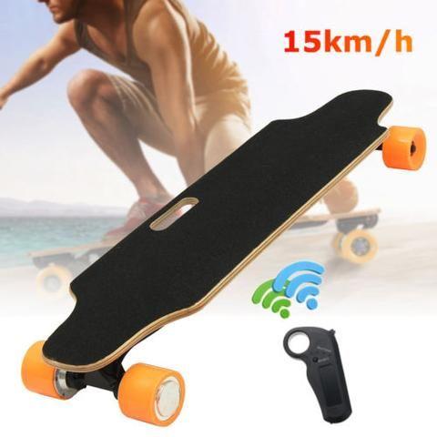 300W Electric Skateboard Dual Motor Longboard Skate Board Scooter with Wireless Bluetooth Remote Control