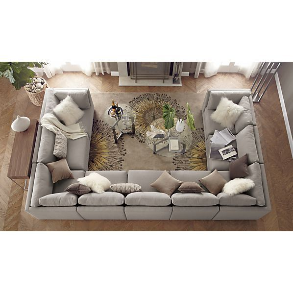 Crate and Barrel Moda 9 piece sectional sofa u0026 Cosmo rug  sc 1 st  Pinterest : huge sectional couches - Sectionals, Sofas & Couches
