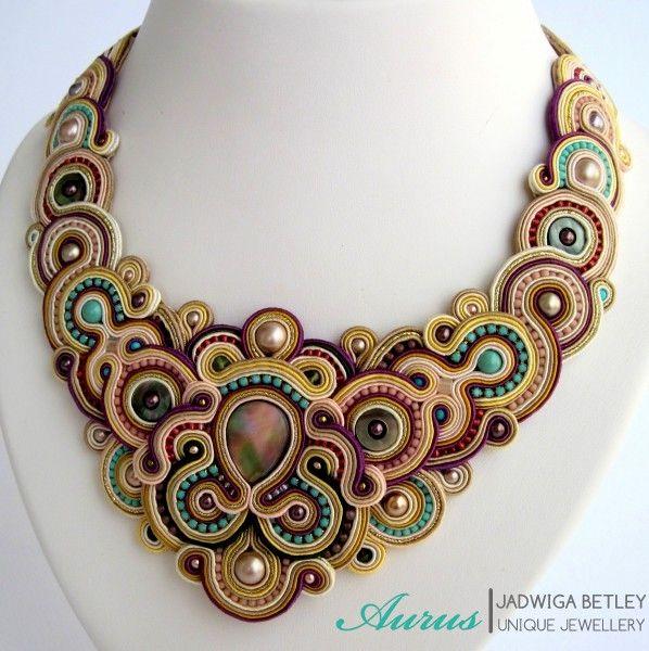 soutache - necklace  mishtiart.blogspot.com - follow me! ;)