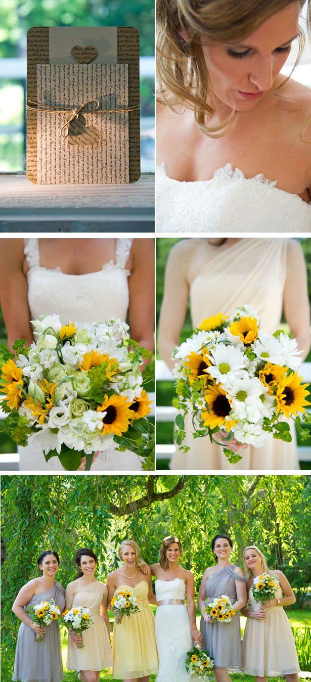 Sunflower-Filled Summer Backyard Wedding in Connecticut - WeddingWire: The Blog
