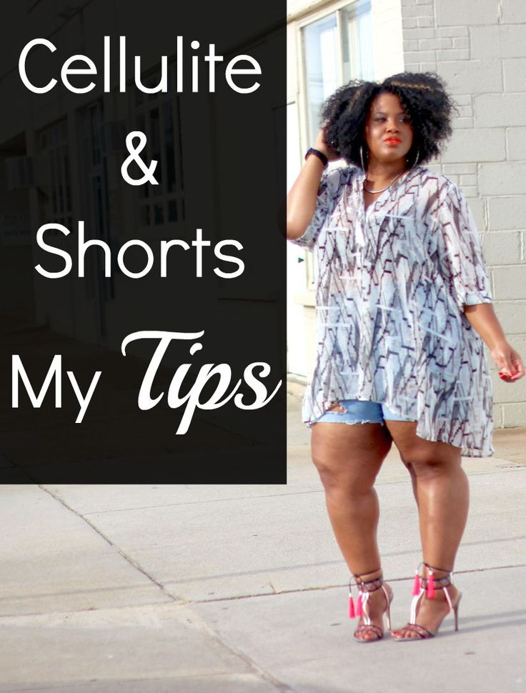 Learn how to rock shorts this summer when you don't want to flash too much cellulite!  #plussize #shorts #cellulite #psblogger