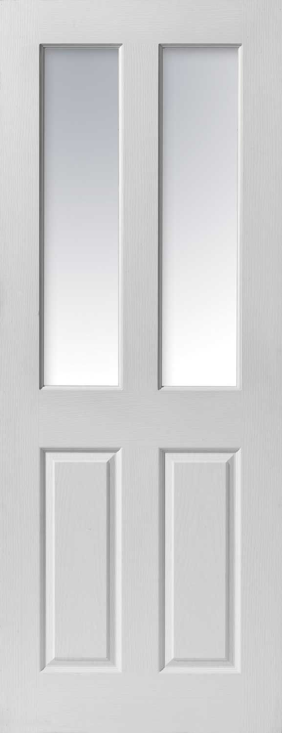 White Internal Fire Doors With Glass Panels