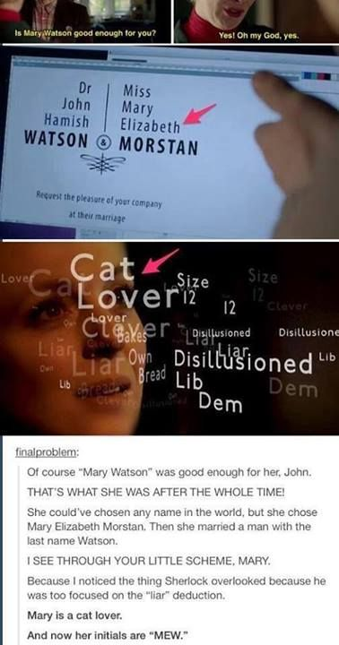 And here, we see the Sherlock fandom in a dive through insanity again