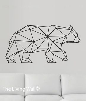 Geometric Bear Wall Decal, Geometric Animals Decals, Home Decor Wall Decals, Geometrics Vinyl Wall Stickers door LivingWall op Etsy https://www.etsy.com/nl/listing/241396100/geometric-bear-wall-decal-geometric